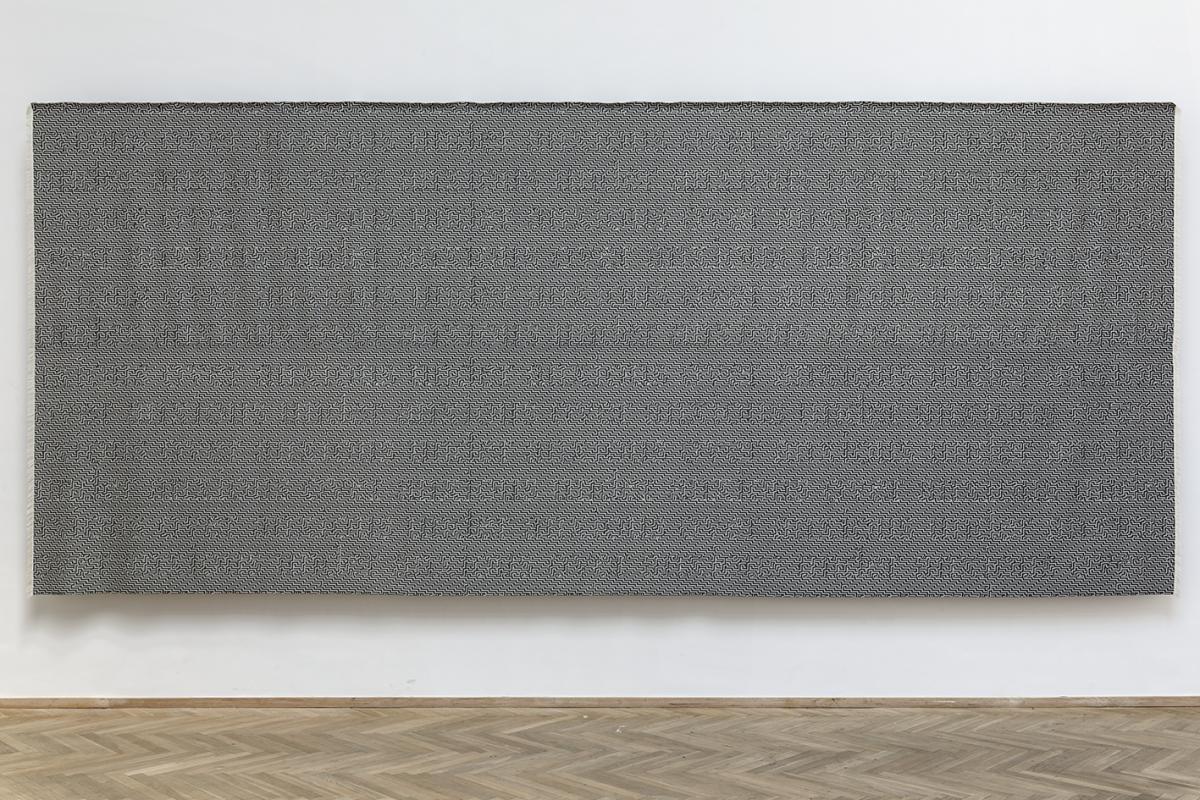 Digital Jacquard weave, wool, 3*7 meters.