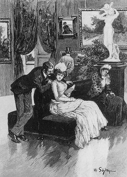 Hermann Schlittgen, Kunst und liebe, Fliengende blätter, vol. 83, nr. 2085, 1885, s.13.